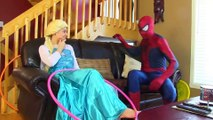 Is Spiderman Kissing Anna w_ Frozen Elsa & Anna_ Maleficent & Joker | Superheroes | Spiderman | Superman | Frozen Elsa | Joker