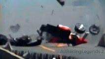 Kevin Cogan nearly fatal crash at Indy 500 (28 May 1989) All Angles