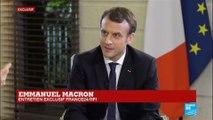 """EXCLUSIF - Emmanuel Macron : """"Avec Roch Kaboré, nous plaisantons, et cela l''a fait rire !"""""""