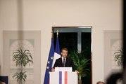 Conférence de presse du Président de la République, Emmanuel Macron, lors du cinquième sommet UA UE à Abidjan