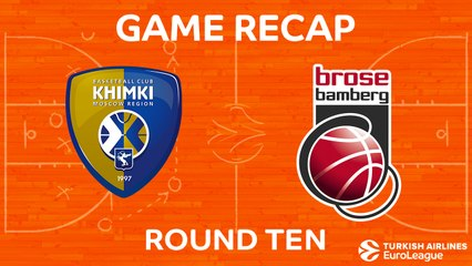 EuroLeague 2017-18 Highlights Regular Season Round 10 video: Khimki 82-73 Bamberg