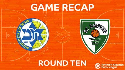 EuroLeague 2017-18 Highlights Regular Season Round 10 video: Maccabi 81-74 Zalgiris