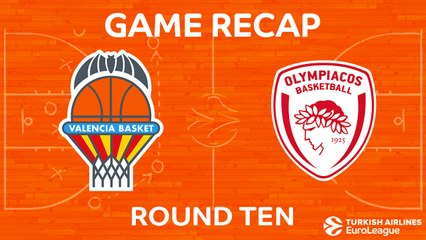 EuroLeague 2017-18 Highlights Regular Season Round 10 video: Valencia 64-72 Olympiacos