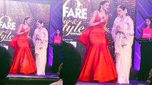 Rekha Presents Deepika Padukone Most Glamorous Star award At Filmfare Glamour & Style Awards 2017