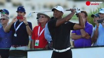 Tiger Woods finds rhythm in return to competitive golf