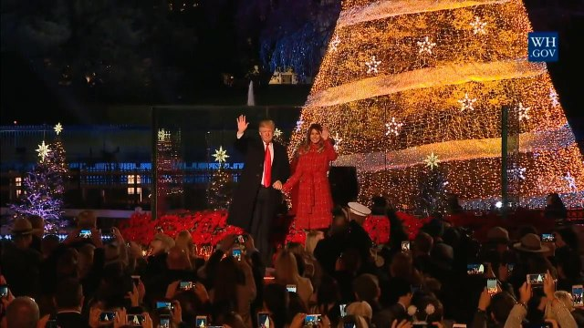 The Trumps Light The National Christmas Tree