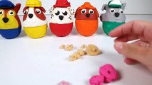 PAW PATROL Nickelodeon Play Doh Surprise Eggs Toys with Chase, Marshall, Rubble-9sbp3nTdT4o