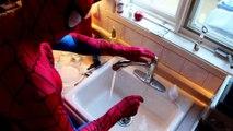 Spiderman vs Venom Bath Time In Real Life _ Superhero Fun! | Superheroes | Spiderman | Superman | Frozen Elsa | Joker