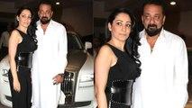 Sanjay Dutt & Wife Maanayata Dutt In Party Mode At Manish Malhotra House