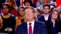 """""""L'émission politique"""" : Violent clash entre Jean-Luc Mélenchon et Nathalie Saint-Cricq"""