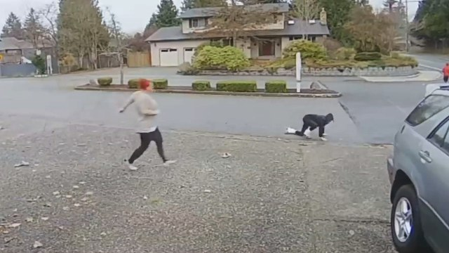 CAUGHT ON CAMERA: Nanny takes down package thief
