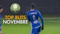 Top Buts Dominos Ligue 2 - Novembre (saison 2017/2018)
