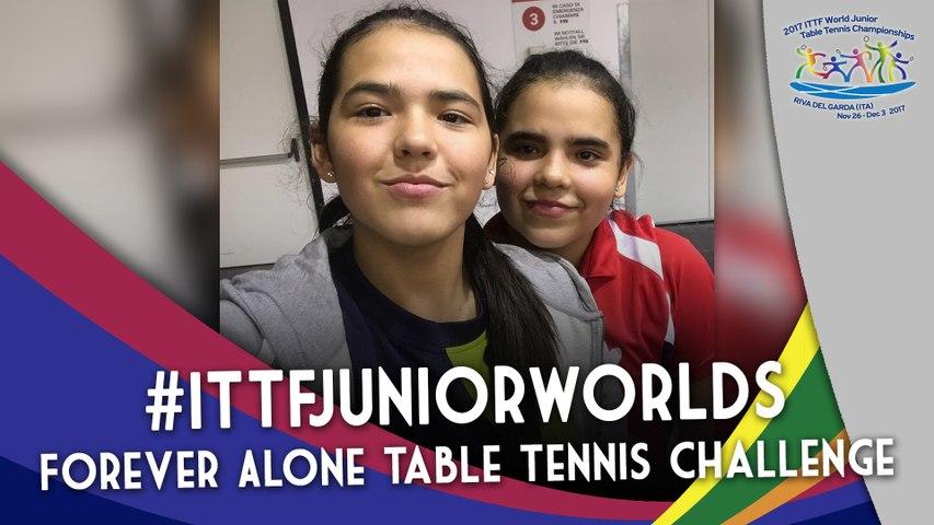 2017 #ITTFJuniorWorlds | Diaz Sisters Forever Alone Table Tennis Challenge