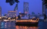 CHAO PHRAYA RIVER, BANGKOK, THAILAND ( HD 2017)