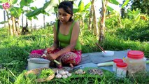 TREE BANANA WITH FISH RECIPE - ម្លរត្រីដើមចេក
