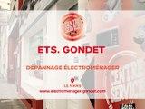 Ets Gondet, dépannage électroménager au Mans.