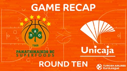 EuroLeague 2017-18 Highlights Regular Season Round 10 video: Panathinaikos 82-71 Unicaja