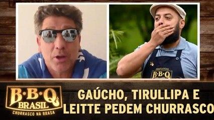 Renato Gaúcho, Tirullipa e Claudia Leitte pedem churrasco