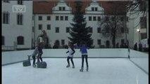 Eröffnung der Torgauer Eisbahn auf dem Schlosshof
