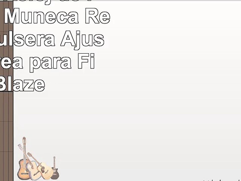 Greatfine Reloj de la Banda de Muñeca Reemplazo Pulsera Ajustable Correa para Fitbit Blaze