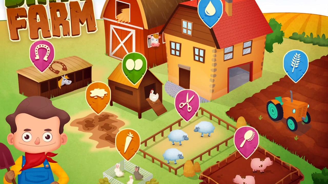 Fun Animals Care – Cleaning & Bath For Farm Animals – Baby Learn Farm Animals & Farm Works