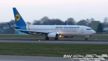 Boeing 737-800 Ukraine International Airlines UR-PSB - taxiing and takeoff at Allgäu Airport [2160p25]