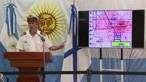 Armada argentina explora indicios en busca de submarino