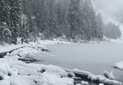 Snow Blankets Seattle-Area Mountains and Lakes