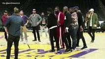 James Harden et Chris Paul s'affrontent sur un concours longue distance avec 200$ à la clé