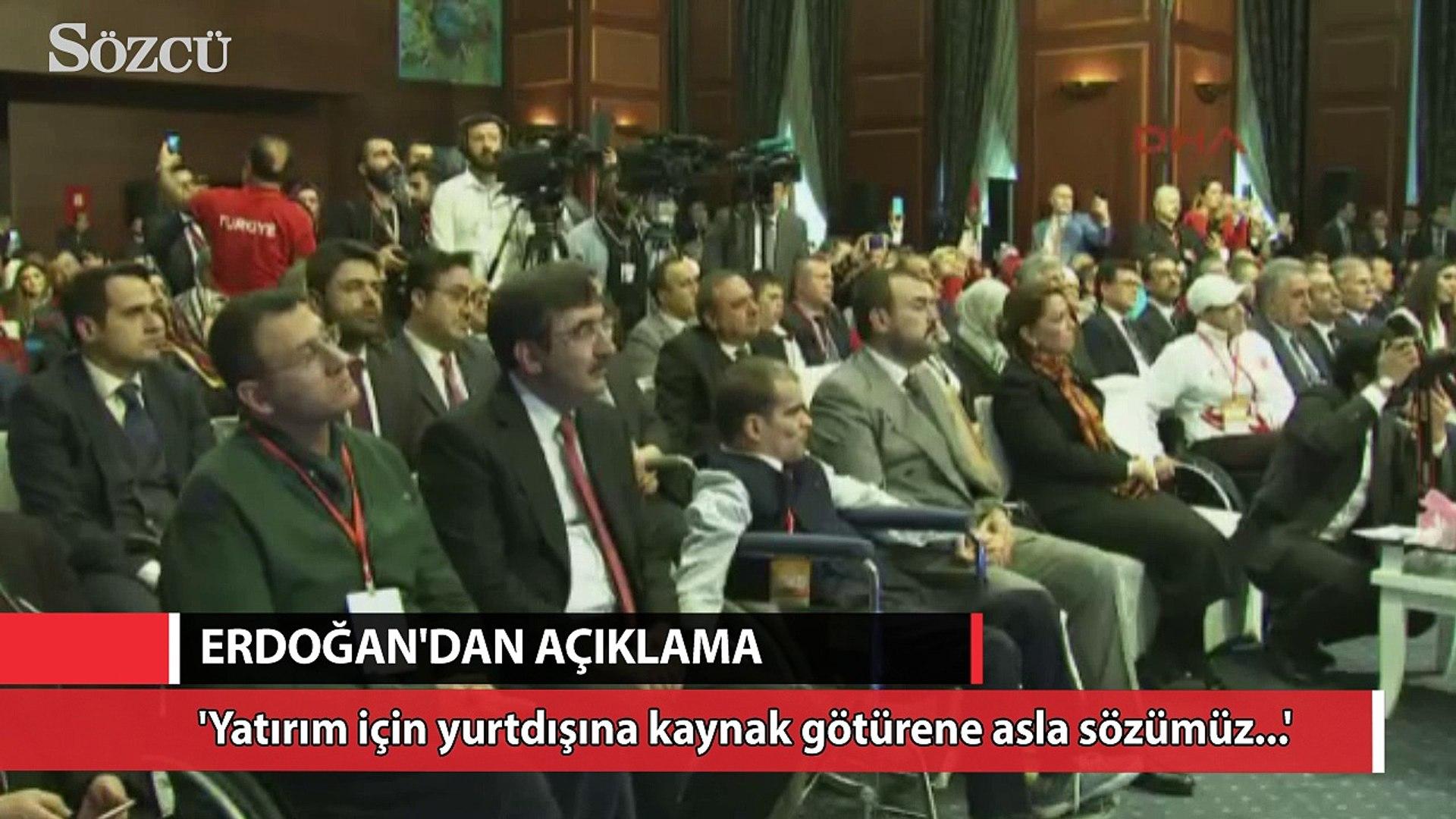 Erdoğan 'Yurtdışına para kaçırıyorlar' açıklamasına açıklık getirdi
