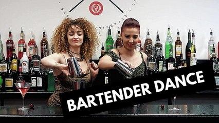 Aya and Marion Bartender Dance at European Bartender School + Cocktail Recipe !