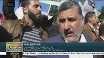 Marchan palestinos y exigen a Al Fatah y Hamas fortalezcan su unión