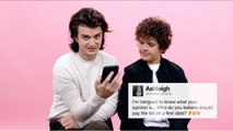 Stranger Things' Joe & Gaten Give Advice to Strangers on the Internet