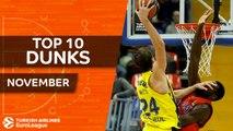 Turkish Airlines EuroLeague, Top 10 Dunks, November