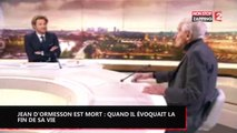 Jean d'Ormesson est mort : Quand l'écrivain évoquait la fin de sa vie, la vidéo émouvante