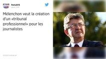 Jean-Luc Mélenchon lance une pétition pour un «conseil de déontologie du journalisme»