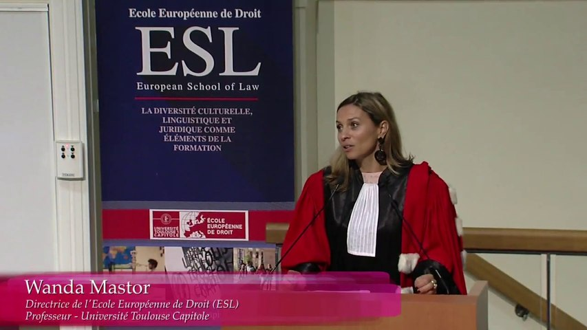 [EED - Rentrée solennelle 2017] 05 - Wanda Mastor, Directrice de l'European School of Law