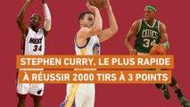 Basket - NBA : Curry, le plus rapide à réussir 2000 shoots à 3 points