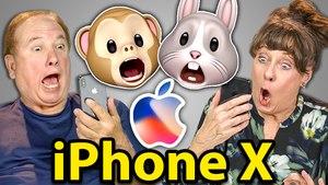 ELDERS REACT TO iPHONE X (Facial Recognition, Animojis)