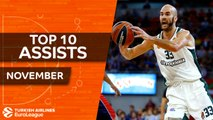 Turkish Airlines EuroLeague, Top 10 Assists, November