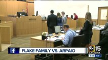 The Flake family is suing former Sheriff Joe Arpaio