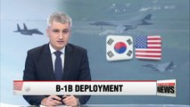 U.S. B-1B bombers to take part in Seoul-Washington joint air force drills