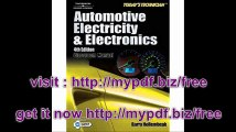 Today's Technician Automotive Electricity and Electronics (Classroom and shop manual set)