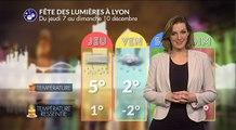 Fête des lumières de Lyon : pluie et neige