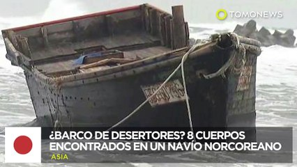 Barco fantasma norcoreano encontrado con los restos de 8 personas en las costas japonesas - TomoNews