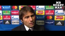 Chelsea 1-1 Atletico Madrid - Eden Hazard, Antonio Conte & Gary Cahill Post Match interviews