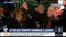 En Belgique, les fans de Johnny Hallyday se rassemblent pour lui rendre hommage