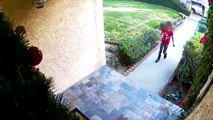 Kid Steals Package from Front Porch