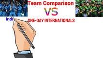 India vs Pakistan ODI Team Comparison ✪ Batting Comparison ✪ Cricket Statistics