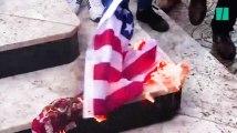 """""""Mort à l'Amérique"""", """"Mort à Israël"""", à Gaza, les images de la colère des palestiniens"""
